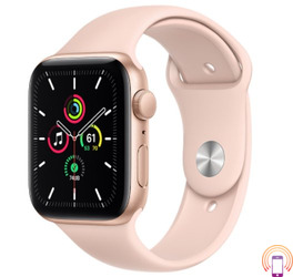 Apple Watch SE 44mm (GPS Only) Aluminium Case Gold Sport Band Pink