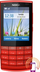 Nokia X3-02 Touch and Type  Crvena